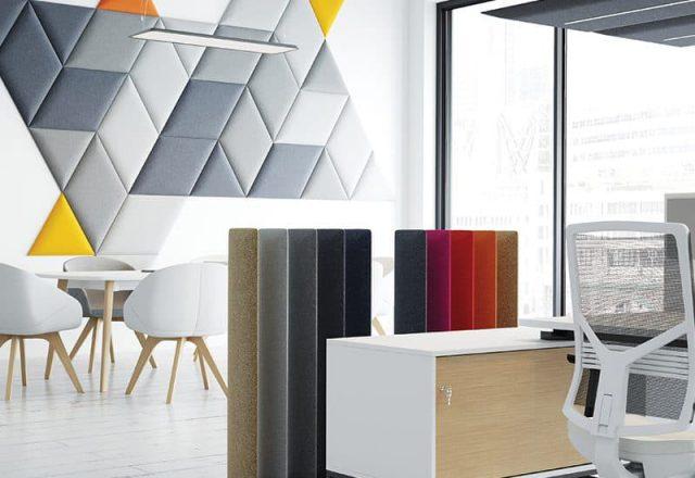 panele akustyczne do biur wolnostojące