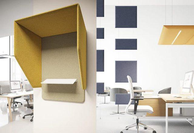 panele akustyczne do biur biurkowe